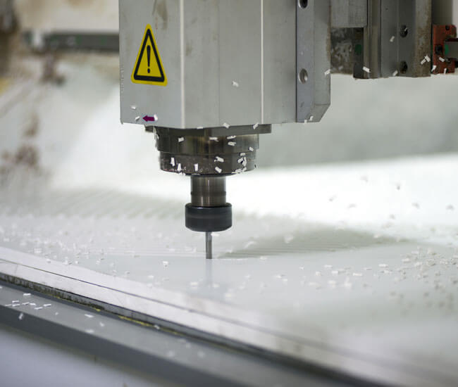 A CNC router in action