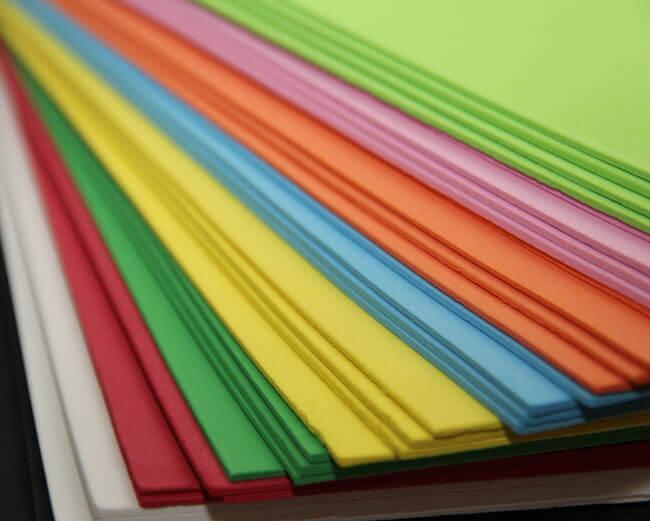 Different coloured foam
